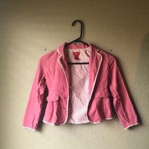 Mossimo Pink Corduroy Button Up Jacket Sz M 7/8